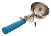 Browne Foodservice 573316 Stainless Steel Standard Disher with Blue Handle, 2-3/120ml, Size 16