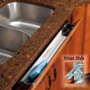 55.9cm Stainless Steel Tip-Out Tray, With Hinges