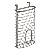 InterDesign Axis Over the Cabinet Kitchen Storage Holder for Plastic and Garbage Bags - Bronze