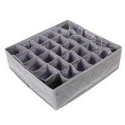 Bamboo Charcoal Folding 30 Cell Slots Underwear Socks Storage Organiser Divider Box