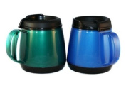 Two 590ml Foam Insulated Wide Body ThermoServ Mugs