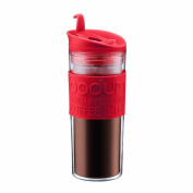 Bodum Insulated Plastic Travel Mug, 0.45-Litre, 440ml, Red