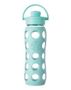 Lifefactory Glass Beverage Bottle with Flip Top Cap, 650ml, Turquoise