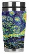 Mugzie® brand 470ml Travel Mug with Insulated Wetsuit Cover - Van Gogh