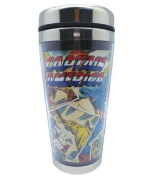 Westland Giftware 470ml Captain America Acrylic and Stainless Steel Travel Mug, 17.8cm