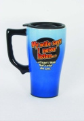 My Wife Says I Never Listen Ceramic Travel Mug commuter cup