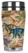 Mugzie® brand 470ml Travel Mug with Insulated Wetsuit Cover - Jungle Dinosaurs
