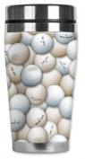 Mugzie® brand 470ml Travel Mug with Insulated Wetsuit Cover - Golf Balls