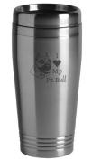 16-ounce Stainless Travel Mug - I Love My Pit Bull