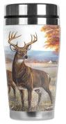 Mugzie® brand 470ml Travel Mug with Insulated Wetsuit Cover - White Tail Deer