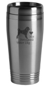 16-ounce Stainless Travel Mug - I Love My Portuguese Water Dog