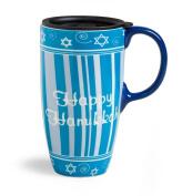 Happy Hanukkah Boxed Ceramic Latte Mug 500ml