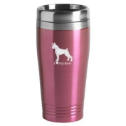 16-ounce Stainless Travel Mug - I Love My Boxer - Pink