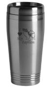 16-ounce Stainless Travel Mug - I Love My Papillon