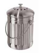 Oggi Stainless Steel Counter Top Compost Pail with Charcoal Odour Filter