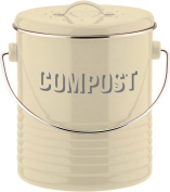 Typhoon Vintage Kit Compost Caddy, Cream