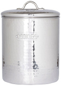 Old Dutch Stainless Steel Hammered Cookie Jar with Fresh Seal Cover, 3.8l, 17.1cm by 19.1cm