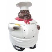 New Fat Bistro Chef Cookie Jar Black Ethnic African American