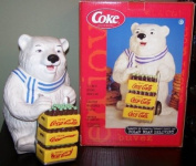 COCA COLA COKE POLAR BEAR COOKIE JAR - RETIRED!