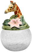 Cosmos Gifts 10805 Giraffe Cookie/Candy Jar with Ceramic Lid, 24.1cm