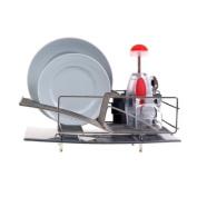 Zojila 'Rohan' Dish Rack Drainer Utensil holder and Drain board, Stainless Steel Self Draining