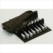 BROWN SILVER CLOTH FLATWARE HOLDER - DRAWER LINER PAD- BROWN SILVER CLOTH
