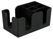 Update International BO-6C Plastic Six Compartment Bar Organiser