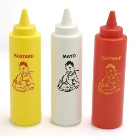e72d3b879694 Charcoal Companion Classic Diner Condiment Bottle Set / Ketchup, Mayo,  Mustard
