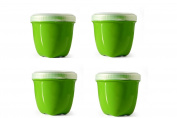 Preserve Mini Food Storage, 240ml, Apple Green, Set of 4