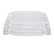 Dart ClearSeal Plastic Hinged Container, 8-0.8cm x 8-0.8cm x 5.1cm , Clear, 125 per