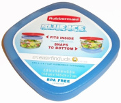 Rubbermaid 1805555 Medium Blue Ice for Easy Find Lid Containers