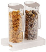 APS Paderno World Cuisine Plexiglass Cereal Jug Duo and 27.9cm Tall Base, 1.5l/EA