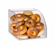 Curved Lid Countertop Bakery Display Case, 12-1.3cm w x 10-1.3cm h x 43.2cm d, Hinged Door With Easy Grip Handle