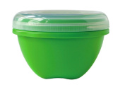 Food Storage, Large (25.5 oz), Apple Green. This multi-pack contains 3.