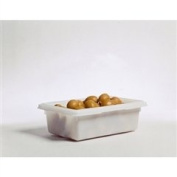 Rubbermaid Commercial Food/Tote Boxes, 13.2l 18w x 12d x 6h, White