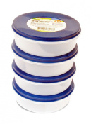 Easy Pack 6-Ounce Round Plastic Storage Container, 177ml, 4-Pack