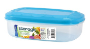 Easy Pack Rectangle Plastic Storage Container with Vented Lid, 1-Litre