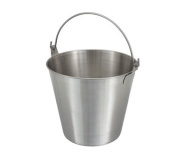 Winco Stainless Steel Utility Pail 12.3l