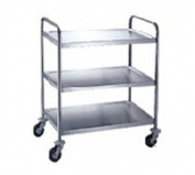 Stainless Steel 3-Level Trolley - 76.2cm x 40.6cm x 81.3cm