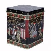 Black Jap Classic Tea Caddy Tin - 240ml - Height 11cm