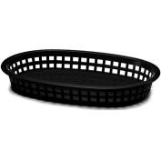 Tablecraft 10-1.3cm Black Oval Chicago Platter Basket - Dozen = 12