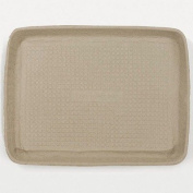 Savaday Moulded Fibre Rectangular Food Trays in White