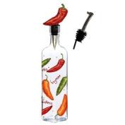 Gourmet Oil Vinegar Bottle w/ Jalapeno Bottle Stopper