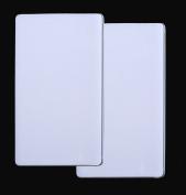 Set 2 Rectangle Stove Top Burner Covers - White