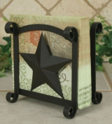 Rustic Brown Star Napkin Holder