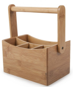 Core Bamboo Cutlery Caddy, Natural