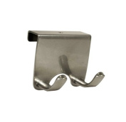 InterDesign Axis Over-the-Cabinet Double Hook, Silver