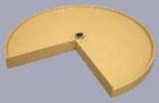 61cm Pie Cut Lazy Susan Shelf Only Almond
