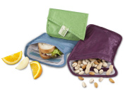 ChicoBag Recycled PET Baggies Snack and Sandwich Reusable Bags, Pack of 3