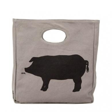 Fluf Organic Cotton Lunch Bag, Oink